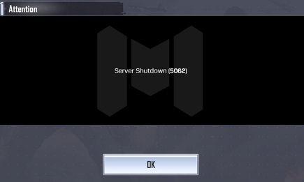 Call of Duty Mobile Server Shutdown